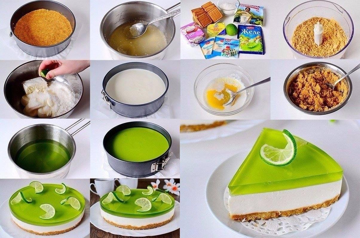 Торт без выпечки с лаймом